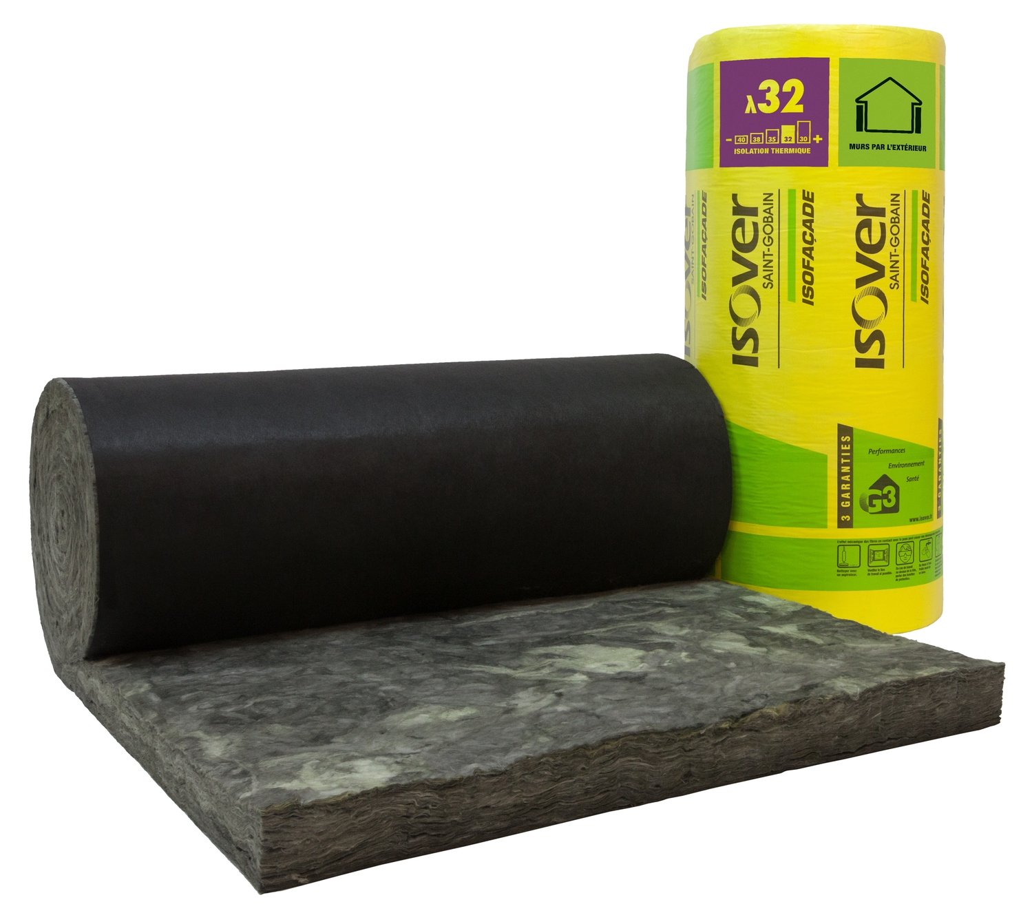 isofa ade noir 32r rouleau laine de verre. Black Bedroom Furniture Sets. Home Design Ideas