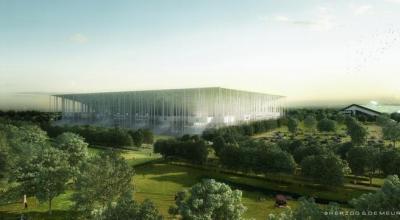Chantier de construction du stade de Bordeaux