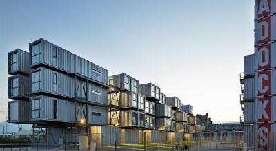 Containers aménagés en appartements au Havre