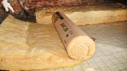 Isolation des combles perdus laine à dérouler ISOVER