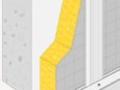 Pose en isolation des murs par l'intérieur de la bande résiliente Optima