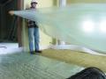 Isolation acoustique des planchers : pose du panneau Domisol LR