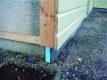 Isolation des soubassements : pose de Roofmate LG-X, mur extérieur