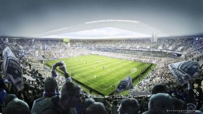 Projet de construction : stade de Bordeaux en actions