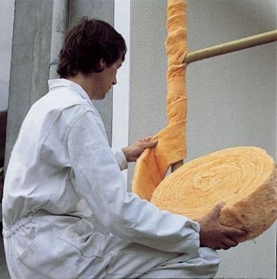 Isolation thermique : pose de bande souple en laine de verre