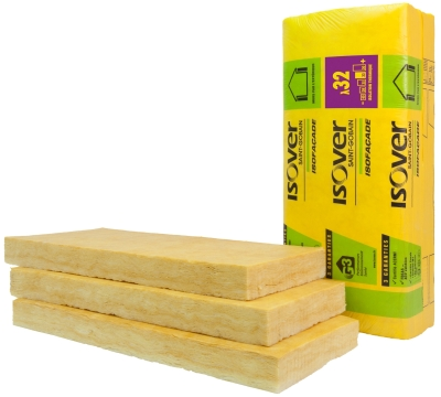 Isolation thermo-acoustique des murs par l'extérieur : laine de verre Isofaçade 32P