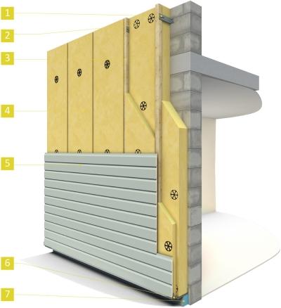 isolation des murs par l 39 ext rieur par une fa ade ventil e pour le collectif. Black Bedroom Furniture Sets. Home Design Ideas