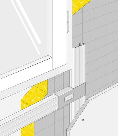 Isolation des murs par l'intérieur : Mise en oeuvre raccord d'angle Optima