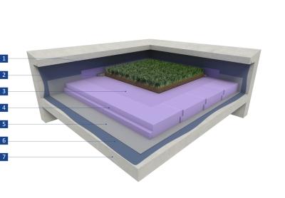 Isolation Thermique Inversée Pour Végétalisation Extensive De Toiture