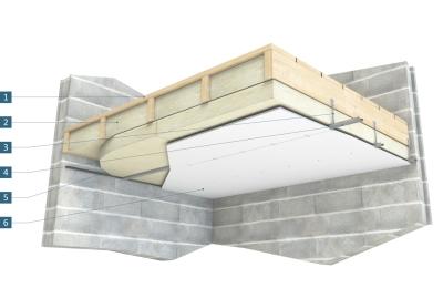 isolation du plafond sous un plancher bois. Black Bedroom Furniture Sets. Home Design Ideas