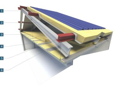 Isolation thermique avec plafond suspendu sous pannes associ un syst me an - Isolation bac acier sous toiture ...