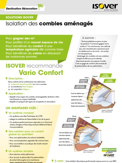 Fiches travaux ISOVER