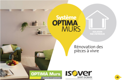 Isolation des murs par l'intérieur : application Optima murs ISOVER