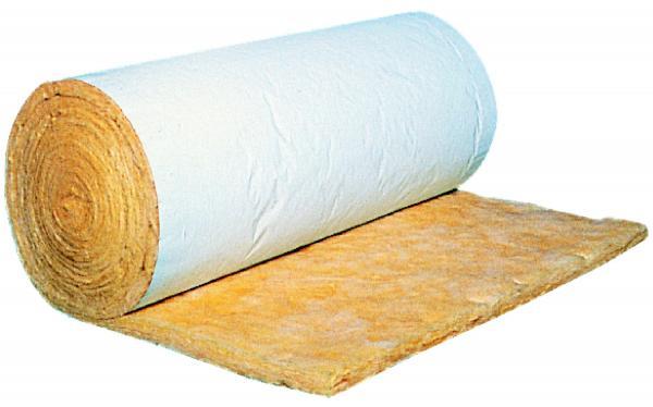 Isolation batiments métalliques : laine de verre Feutre Tendu Alu Blanc