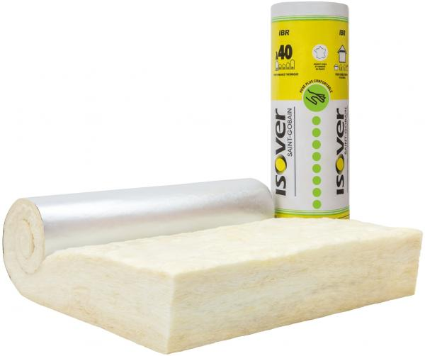 Isolation des plafonds des ERP : laine de verre incombustible IBR Revêtu Alu