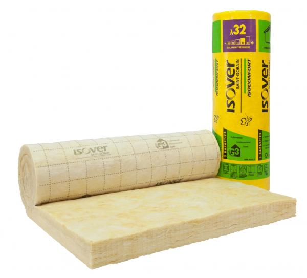 Isolation des combles aménagés : laine à dérouler Isoconfort 32