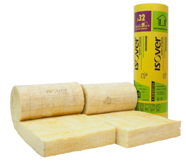 Isolation murs à ossature bois : laine de verre Isomob 32R