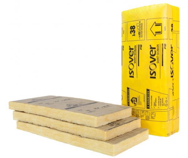 Isolatin des murs avec une laine de verre : PB 38 Revêtu Kraft