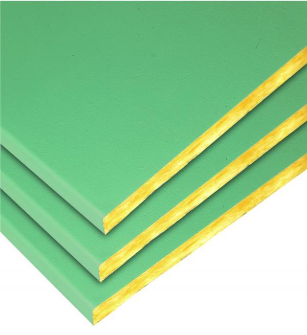 Isolation des plafonds : panneau en laine de verre pour toitures Shedisol Decor