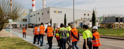 Arrivée à l'usine ISOVER