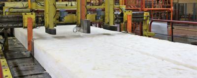 Fabrication de la nouvelle laine de verre ISOVER
