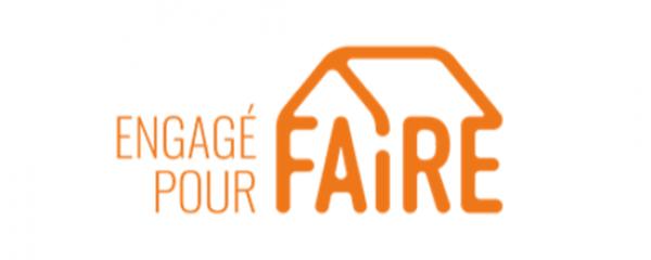 Logo « Engagé pour FAIRE » bannière HP