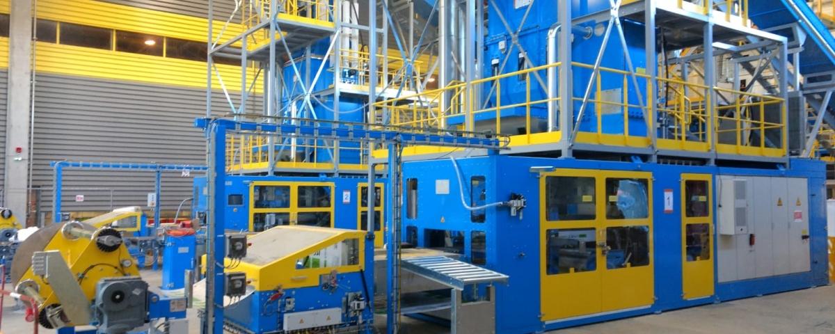 Figure 3 - Ce sont 30.000 tonnes de laine à souffler qui sortiront de l'usine chaque année. Une capacité qui devrait permettre d'isoler quelque 100.000 toitures.