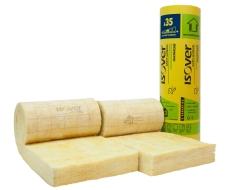 Isolation des murs à ossature bois : rouleau en laine de verre Isomob 35R