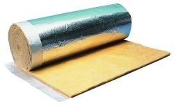 Laine de verre de faible épaisseur pour l'isolation des bâtiments métalliques