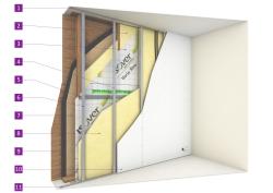 Isolation des maisons ossature bois - Prix mur ossature bois m2 ...