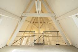 Combles aménagés structure de la charpente ISOVER