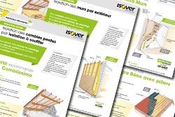 Isolation thermique : les fiches travaux ISOVER par parois