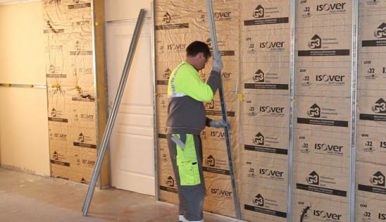 Isolation des murs par l 39 int rieur en r novation pi ce - Isolation murs interieurs en renovation ...