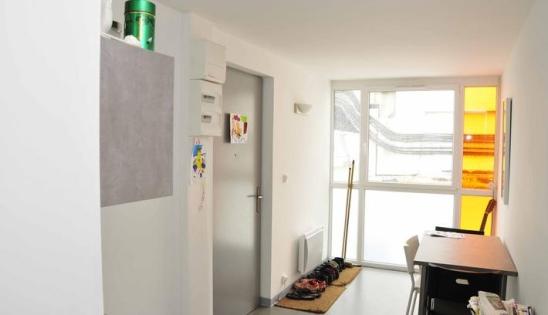 Containers transformés en logements : vue intérieure