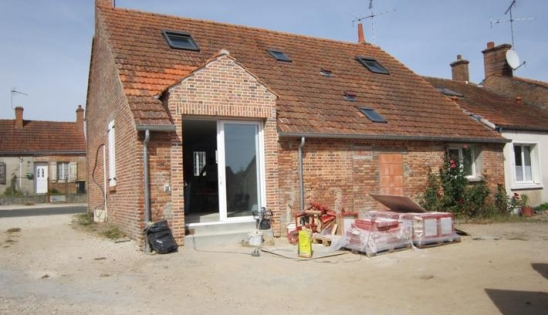 Maison en brique rénovation par l'intérieur : chantier