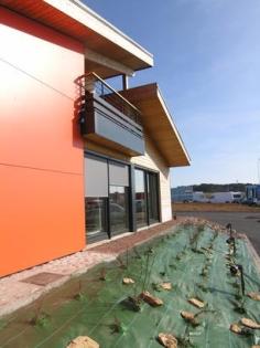 Bâtiment de bureaux : vue extérieure du projet