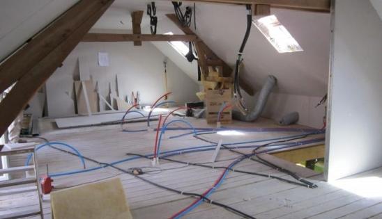 Combles aménagés après rénovation de l'isolation