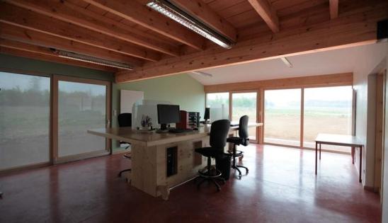 Bureaux Haute Qualité environnementale : vue intérieure