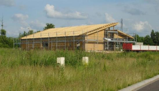 Construction du bâtiment de bureaux HQE : vue extérieure