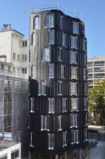 Programme immobilier Façade F4 : Vue de la façade avant la pose du bardage