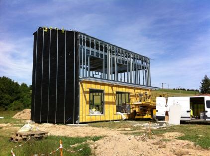 Maison énergie positive : Isolation extérieure avec isofaçade