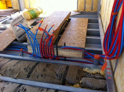 Isolation maison à énergie positive : Pose de l'IBR400 en planchers