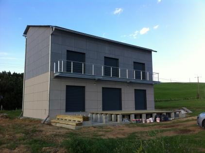 Travaux de construction de bâti à énergie positive terminée