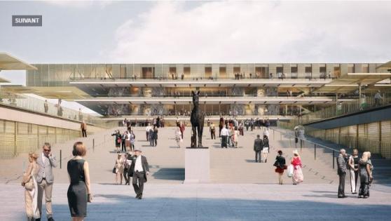 L'entrée du nouveau Longchamp