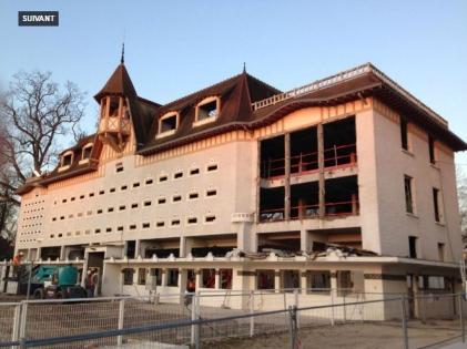 Le chantier de reconstruction de l'hippodrome de Longchamp