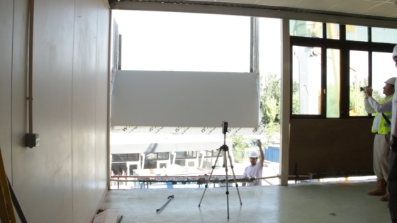 Chantier de rénovation et d'isolation avec système Façade F4