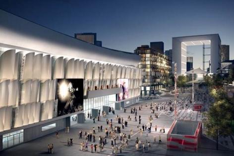 Isolation acoustique Stade : Vue du projet Arena de nuit