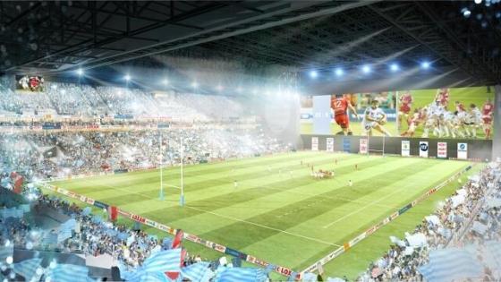 Isolation acoustique : simulation d'un match de rugby projet Arena