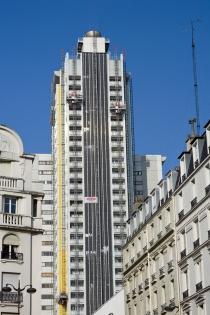 Travaux de rénovation BBC de la Tour Super-Montparnasse : vue façade