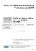 <h6>20/15-356 : Isolation des Combles</h6>
